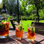 Cartwheel Inn Summer Garden Drinks Pimms