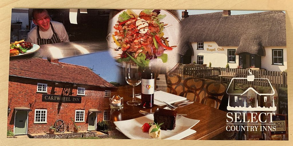 Cartwheel Inn gift voucher