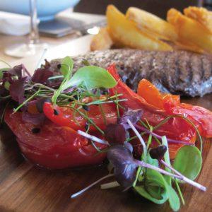 The Cartwheel Inn steak and chips