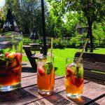 Cartwheel Inn Summer Garden Drinks Pimms